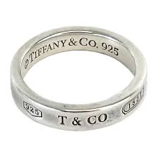 Sterling Silver Engravable Jewelry Pre Owned Tiffany U0026 Co Sterling Silver Engraved Narrow Ring Sz
