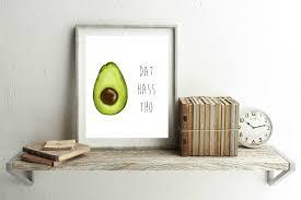 dat hass tho avocado pun vegan vegetable print kitchen