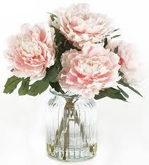 artificial peonies garden peonies in vase artificial flowers artificial
