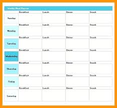 printable meal planner with calorie counter excel meal planner meal plan template excel excel meal planning diet