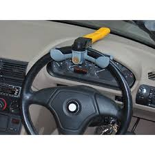 volante tipo compra traba volante auto seguridad tipo martillo amarillo