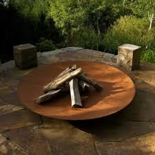 Steel Firepit Corten Steel Pit With Complimentary Eco Lighters