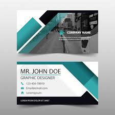modern geometric business card template vector free download