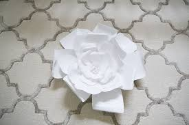 White Flower Wall Decor Diy Large Paper Flowers Wall Decor And Above Bed Hometalk