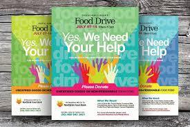 drive brochure template food drive flyer templates flyer templates creative market