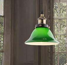 Green Pendant Lights Modern Brief Glass Industrial Pendant Light Green Lampshade Lamp