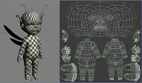 uv layout video tutorial uv layout of a character note how the uvs on the head towards the