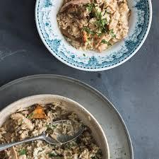 turkey mushroom gravy review by turkey and mushroom risotto recipe epicurious com