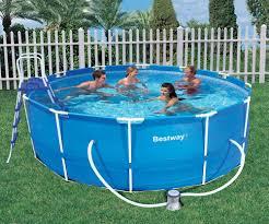bestway 12ft x 48in deep steel pro frame above ground garden pool