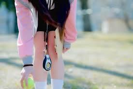 H¬nh ná n Nhật Bản Anime Brunette c´ng viªn mu xanh da trá i