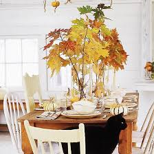 Tree Branch Centerpiece Thanksgiving Table Setting Ideas For Sharing Event Artistry