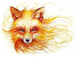 flaming fox tattoo design best tattoo designs