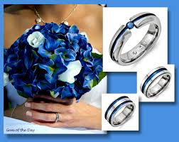 titanium wedding ring sets blue or pink sapphire anodized titanium wedding band collection
