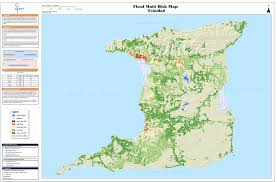 Trinidad And Tobago Map Flood And Landslide Susceptibility And Risk Office Of Disaster