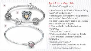 s day charm bracelet promotion alert pandora s day 2014 gift sets for the us