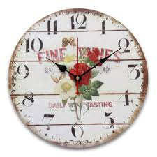 Shabby Chic Wall Clocks by 34cm Vintage Wall Clocks Antique Flavour Kitchen Retro Style