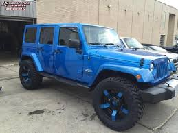 jeep wrangler blue 2014 jeep wrangler xd series xd811 rockstar 2 wheels satin black