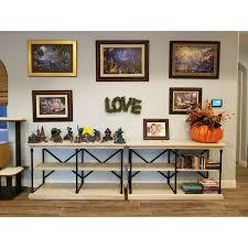 Entryway Console Table Barnstone Cornice Iron And Wood Entryway Console Table By Inspire