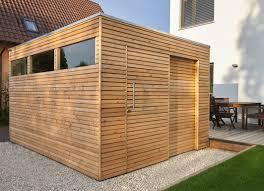 gartenhaus design flachdach design gartenhaus mit lärchenholz und schiebetür als flachdach mit