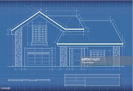 home blue print blueprint house vector art getty images