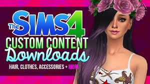 custom hair for sims 4 the sims 4 custom content downloads 8 youtube