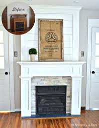Craftsman Farmhouse Diy Budget Fireplace Surround Makeover From The Boring Brown