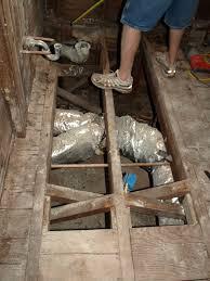 ripping up the bathroom floor