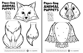 canadian animal paper bag puppets play cbc parents