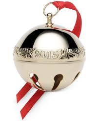 wallace 2015 sleigh bell 45th edition silver ornament