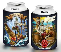 beer can cartoon boater cozy set gifts for boaters pirate gear my beer cozy