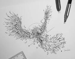 geometric phoenix tattoo design u2022 visit artskillus ru for more