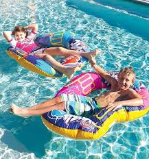wahu funky bean bag lounge blue or pink pool party float