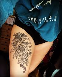 Leg Flower - best 25 flower thigh tattoos ideas on peony flower