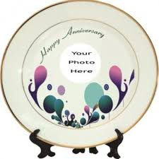 personalized ceramic plate plate happy anniversary beautiful design gift