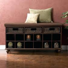 Storage Bench With Cubbies Small Entry Bench With Shoe Storage Shoe Cubby Entry Bench Storage
