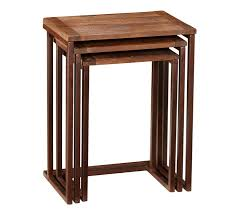 Small Sofa Table by Granger Nesting Side Tables Pottery Barn