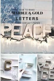 How To Use Home Design Gold Diy Christmas Decor Marble And Gold Letters Scribbles From Emily