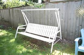 Patio Swing Cushions 3 Seat Uknown White Metal Patio Swing Canopy Replacement