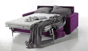 canape convertible violet canapé lit à ouverture assistée styling microfibre haut de gamme