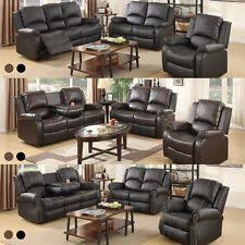 Leather Recliner Sofa Set Deals Sofas Loveseats Chaises Ebay