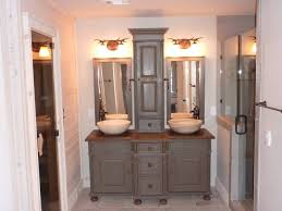 Bathroom Storage Tower by Custom Pine Bathroom Vanities With Storage Tower Bathroom