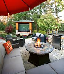ann arbor patio contemporary interior designs with stone fire pit
