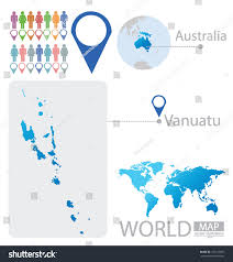 Vanuatu Map Republic Vanuatu Australia World Map Vector Stock Vector 152125991