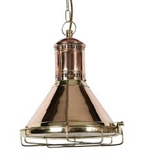 pendant lighting chain covers heritage freighter nautical style copper ceiling light um pull