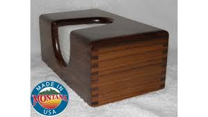 tissue box cover solid walnut 0328201702