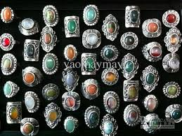 stone rings wholesale images 2018 vintage adjustable natural stone rings high quality fashion jpg