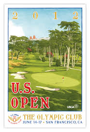 signed 2012 u s open poster of the olympic club by lee wybranski