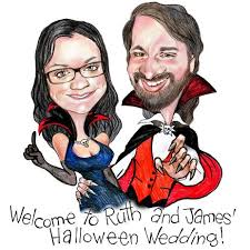 personalized gifts wedding on caricature