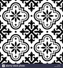 Moroccan Tile Spanish Tile Pattern Moroccan Tiles Design Seamless Black And