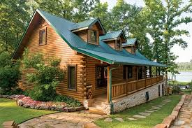 cabin porch custom crafted lakefront log home